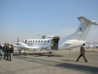 United Nations Humanitarian Services ran a shuttle service between Islamabad and Kabul (February 2002).