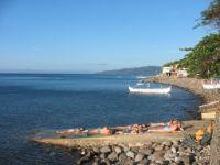 Sunny day at Tamarind Beach - Tagaytay Ridge in the far end.