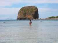 Beach near Sepoc Point at Maricaban Island.