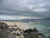Dark clouds over Sombrero Island.