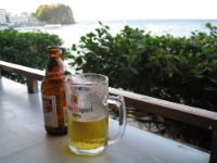 A cold San Miguel Beer at Point's Bar in Big Lalaguna.