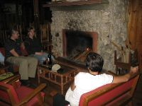 Nights can be cold in Sagada, and a fire place is used to keep the house warm.